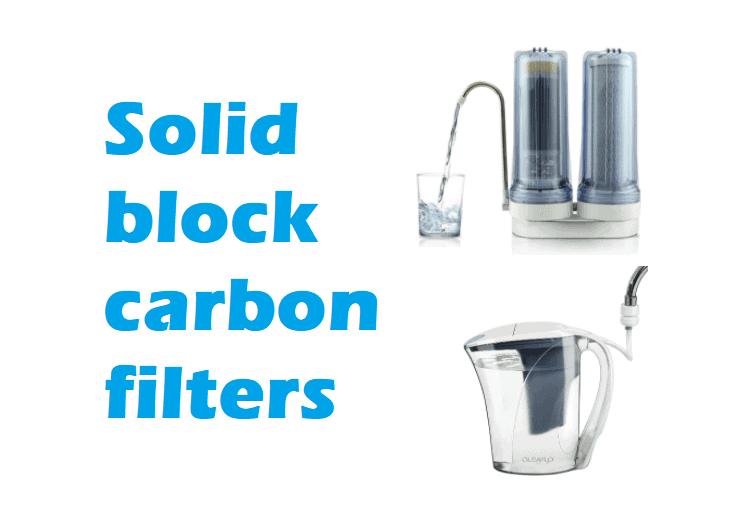 Solid block carbon filters